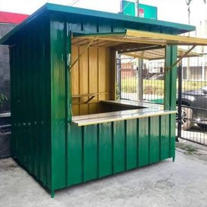 booth container hijau