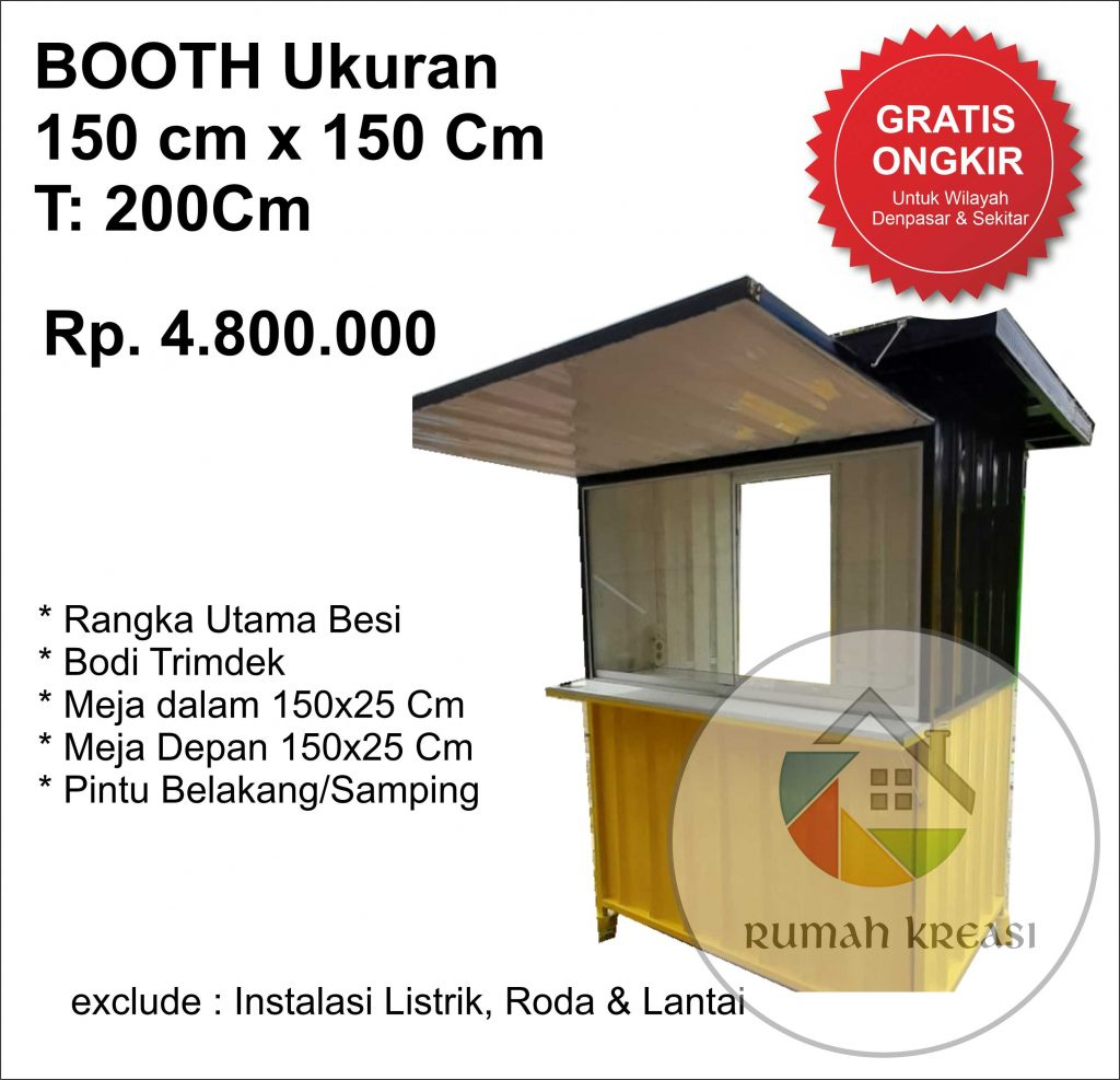 Booth Semi Container model Cafe