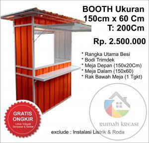 Booth 150x60cm 2Juta5ratus